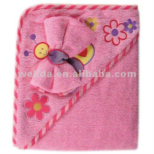bordados de mariposa terry bebé con capucha toalla-Toallas ...