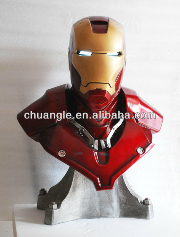 Cool metal resin bust figure Iron Man,great promotional gift