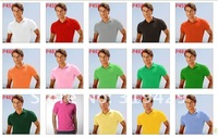 Мужская футболка 100% cotton custom fit polo shirts shorts sleeve men's t-shirts