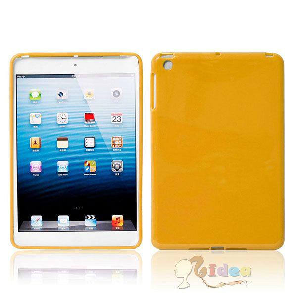 Gel Cover Stylish Glossy TPU Case for iPad Mini Yellow