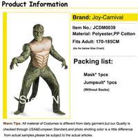 Маскарадный костюм The Amazing Spiderman Movie-Lizard Deluxe Muscle Costume mascot cosplay carnival halloween party costume adult-JCDM0039