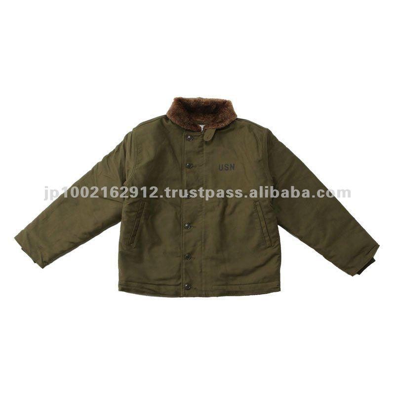 Navy Deck Jacket Olive Drab Color