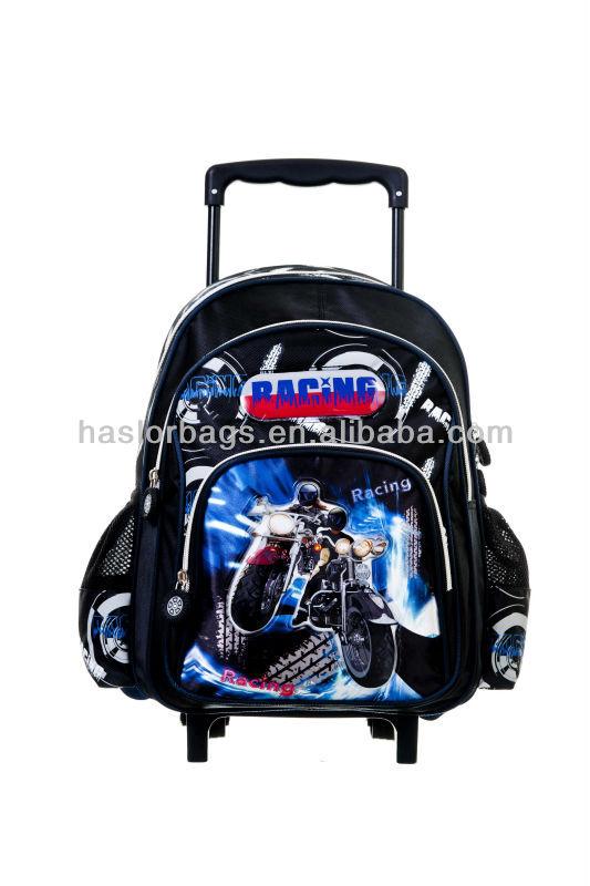 Qualité adolescente sac à roulettes de l'école et sac à dos nouveau produit 2014