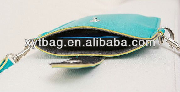 Different color PU leather cell phone bag