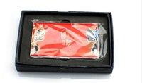 Red business card case holder metal credit card wallet discount metal credit card wallet free shipping
