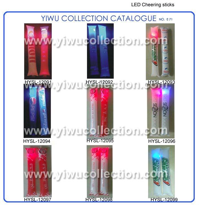 Баллон надувные палки, индивидуальные из светодиодов создатель шума, надувные гром палку Оптовая продажа, изготовление, производство