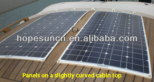 Import solar panels 180W sunpower cell semi flexible solar panel for boats