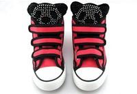 Кроссовки для мальчиков retail 2013 fashion children canvas shoes kids sneakers for boy and girl sport shoes rhinestones panda shoes TZ66481 Брезент