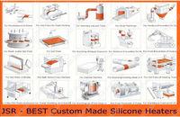 Промышленный нагреватель JSR - Best Custom Made Silicone Heaters 200mmX300mm, 6W 10 c