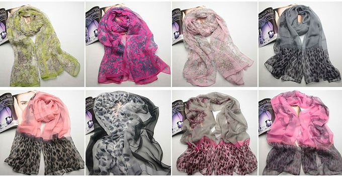 Best selling silk bright color winter colorful scarves