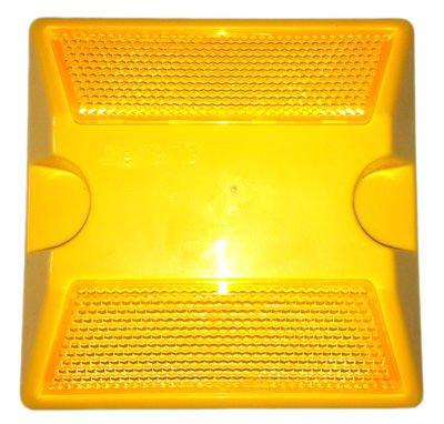 amber color reflective road stud,plastic road stud ,road mark