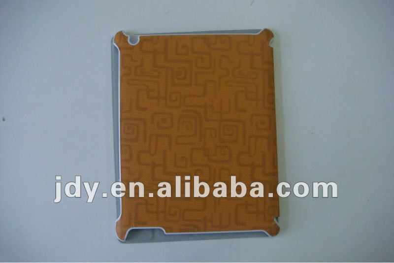 Hot-selling window pattern magnetic folding smart cover for ipad orange