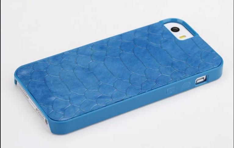 ROCK New! Cover case back For Apple iPhone 5 5S 5G Royal series Seismic 100% real leather Alligator Pattern housing