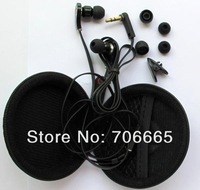 "Наушники In-ear 3.5mm ""L"" shape strong bass Headphone Earphone Earbuds headset For iphone 4 4G 4S 5G MP3 MP4 psp pc Flat cable with case"