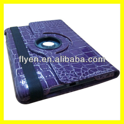 "Tablet accessories 360 Rotating for iPad mini Leather Case 7.9"" inch Tab Smart Cover Crozzling Pattern"