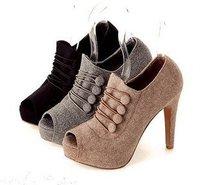 Туфли на высоком каблуке 2012 NEW shippment Women Shoes Ankle Boots Ladies Platform Peep Toe High Heels Sex High Heel Platform Shoes 3colors