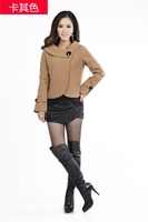 Женская куртка spring autumn winter ladies wool jacket short design wool coat plus size outerwear