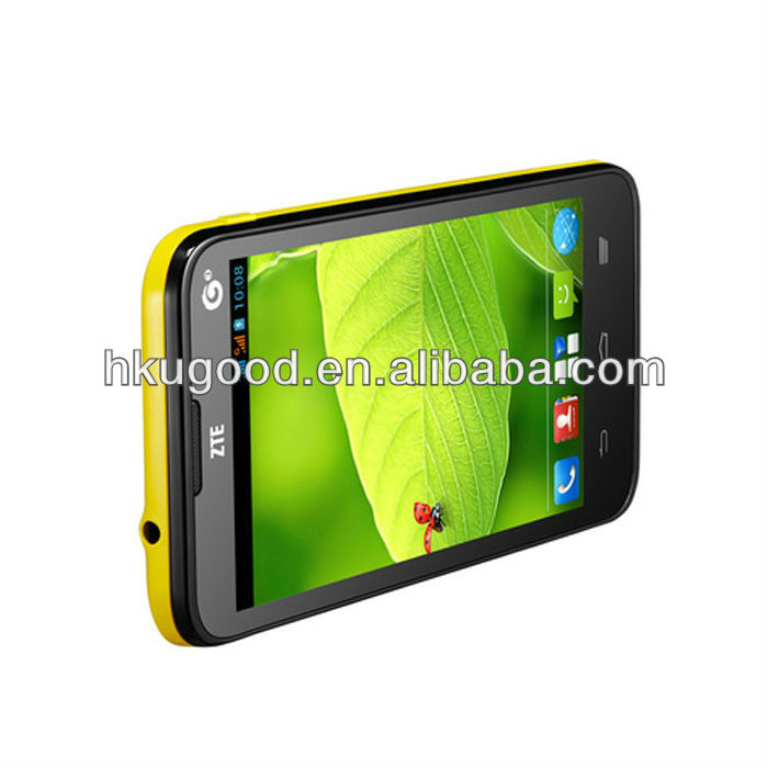 4.5 inch IPS ZTE U819 smartphone Android 4.1 MT6589 Quad Core 1.2 GHz 3G mobile