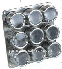 Inoxydable pot pices en acier ensemble outils d 39 epice - Pot a epice magnetique ...