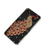 Bling горный хрусталь кристалл павлин стиль разработать жесткий заднюю крышку случае для blackberry z10