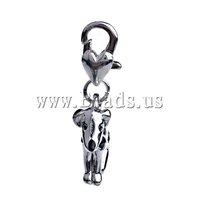 FREE SHIPPING 10pcs/lot Zinc Alloy Lobster Clasp Charm, Animal, dog shape, with enamel, nickel, lead & cadmium free 29x19x6.5mm