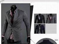 a button, the Roman cloth cultivate morality, fashion, brand, man's suit, blazer, slim, jackets for men, coat, M, L, XL, XXL