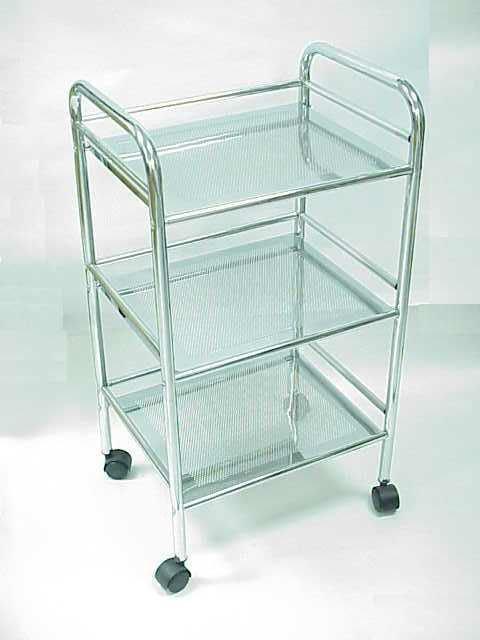 3 tier bathroom metal cart with wheels view metal cart for Bathroom cart on wheels