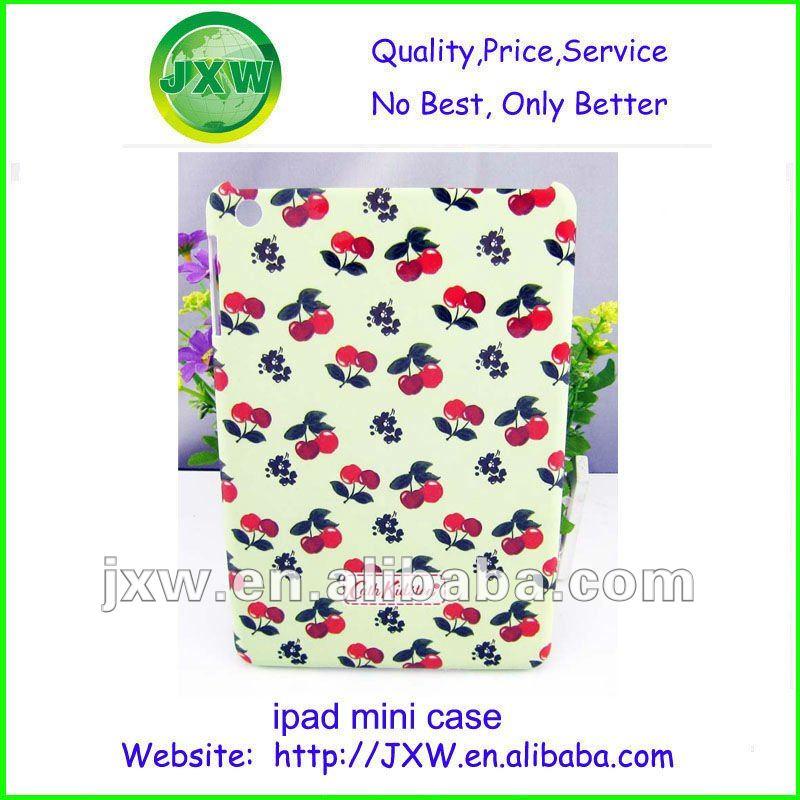 wonderful flower design hard pc case for ipad mini