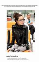 Женская куртка 2012 Fashion Cultivate one's morality short fur PU Leather Jacket Women Coat Size, M, L, Autumn&Winter XL01