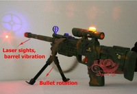Игрушечное оружие Sound and light simulation laser sniper gun with shake Bullet rotatable Children electric toy kids birthday gift