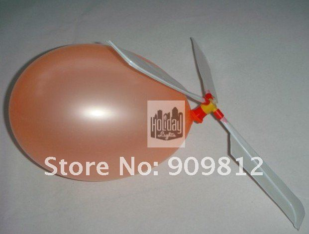 Free Shipping  Balloon airplane, Balloon helicopter, Balloon propeller, Novelty toys 8g 20pcs/lot
