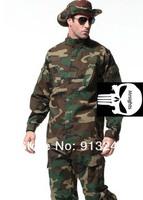 Wholesale Retail WOODLAND BDUS US Army Uniforms Airsoft Game Uniform Coat Pants Set Paintball Uniform