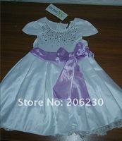 Платье для девочек 1 pcs children girl princess lace skirt dress bow white color girl's dresses