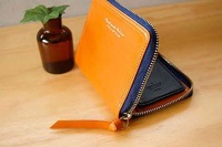 2012 zipper folding PU leather money clips/wallet WLHB380