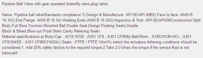 Slip body Ball valve , Trunnion Mounted ball valve, gear operated A105,