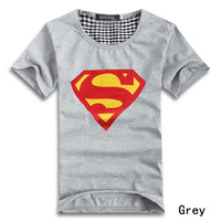 Женская футболка Fashion Superman Pattern Lovers Tops Clothes Casual Crew Neck Short Sleeve T-Shirts For Couples 5 Colors Drop Shipping 55539
