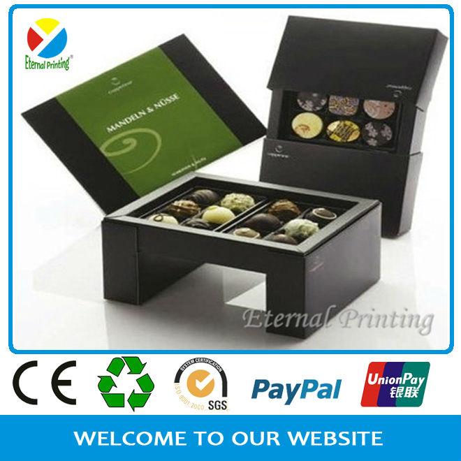 nuovo 2013 nero opaco scatola di carta regalo peril cioccolato