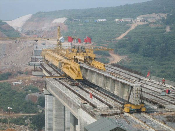 New bridge girder launching