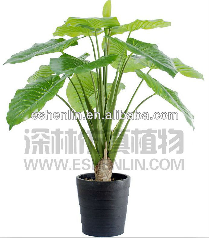 Big leaf man made tropical plants sale indoor outdoor plastic bonsai plant buy tropical plants - Big leaf indoor plants ...