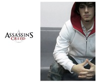 Free Shipping Assassin's Creed 3 Overcoat Brotherhood DESMOND Hoodie Hawk pocket hoodie White /Black