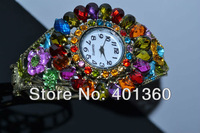 Наручные часы 1pc New vintage style Elegant watch Bracelet, charming peacock Bangle Cuff watch