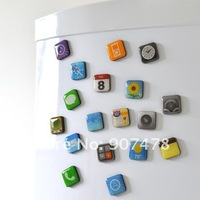 Free DHL Shipping 100packs/lot APP Refrigerator magnets As Seen On TV Mobile phone fridge magnets 18pcs/pack