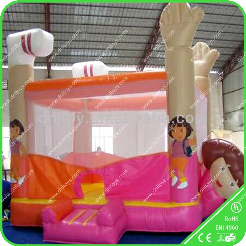 Christmas party inflatable slide with bouncer