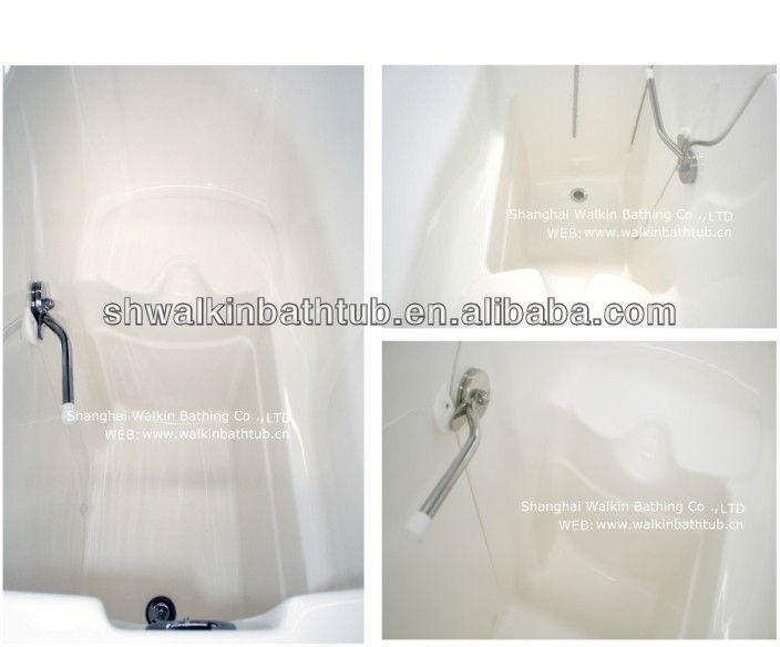 soaker em pé banheira de fibra de vidro banheira banheira cadeira de rodas cwt2651w