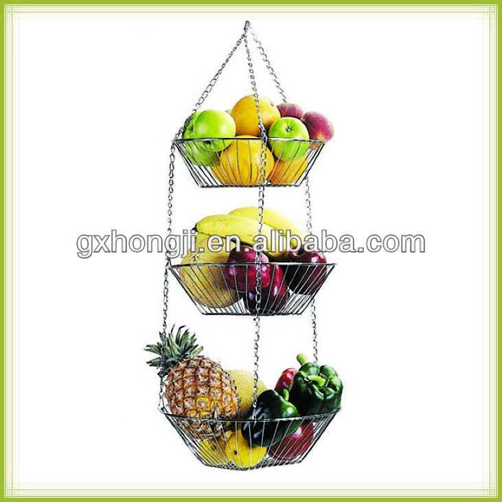 Handmade Hanging Fruit Basket : Handmade hanging tier fruit desplay basket buy