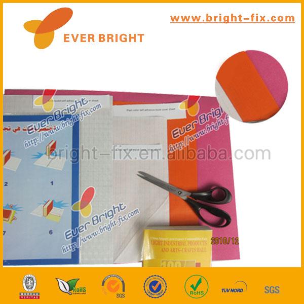 pvc transparent self adhesive film for book cover