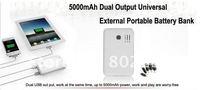 Зарядное устройство для мобильных телефонов 5000mAh Universal External Power bank Backup Battery Charger for Apple iPhone iPod iPad Samsung LG HTC Nokia Sony mobile phone