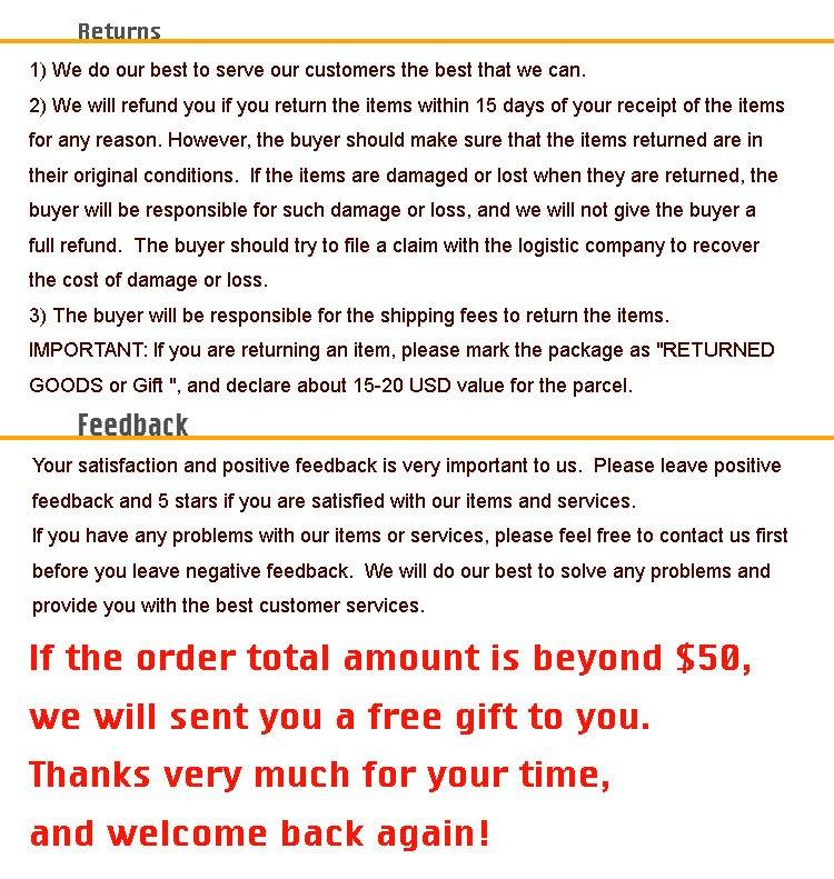returns and feedback