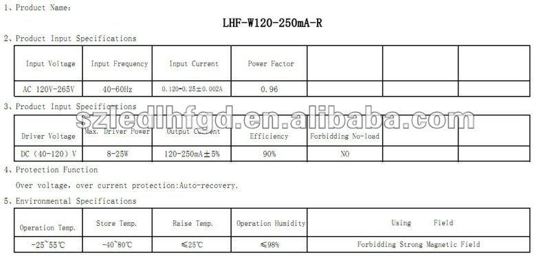 8~26W non-isoalted T8 led driver/led tube driver
