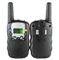 Рация 1pair Walkie-talkie+2 Headphones, Black Best Gift for Friends and Old Parents